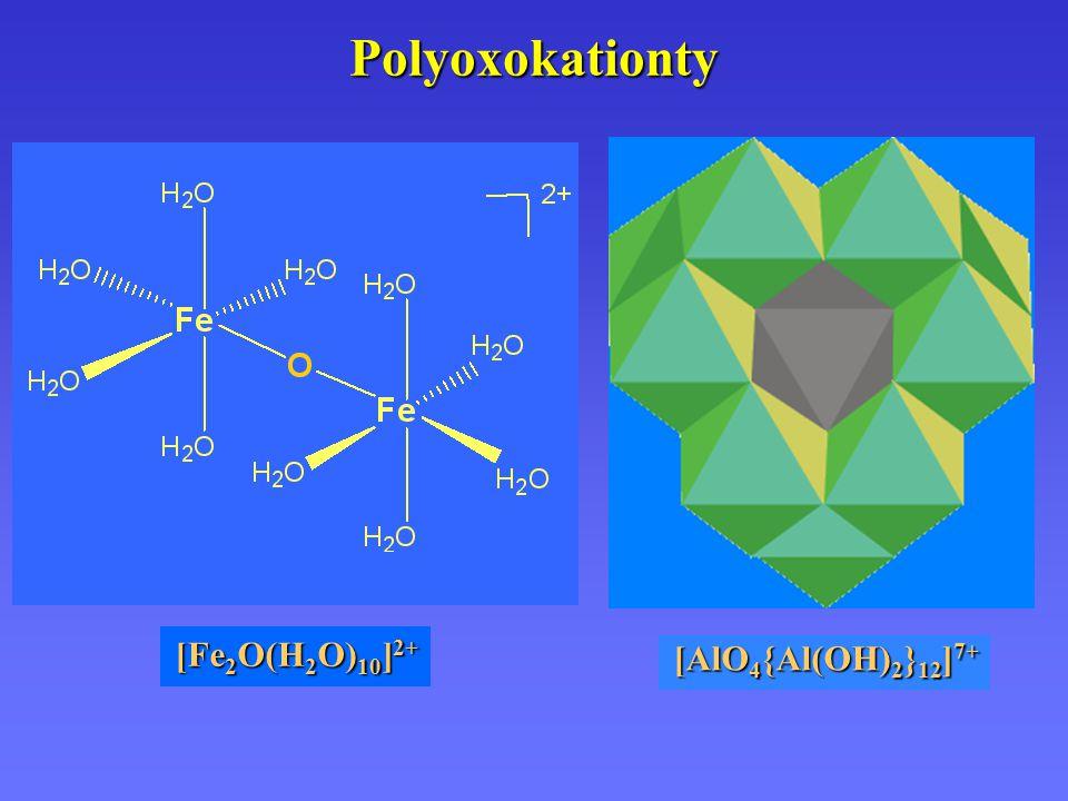 Polyoxokationty [Fe2O(H2O)10]2+ [AlO4{Al(OH)2}12]7+